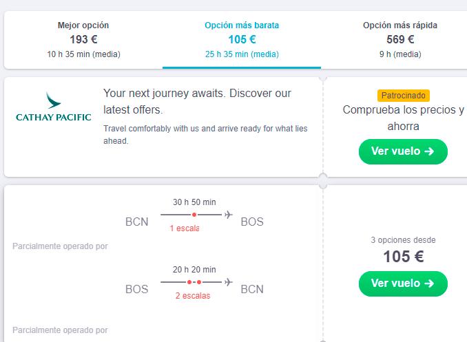 Viajar barato estados unidos