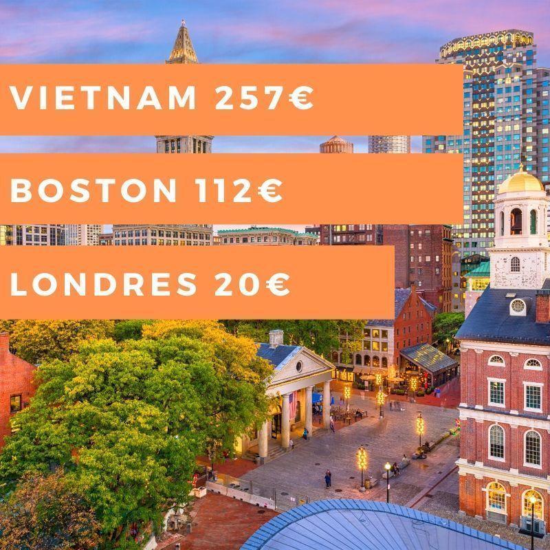 Semana #17: Londres 20€, Boston 112€, Vietnam 257€ y mucho más…