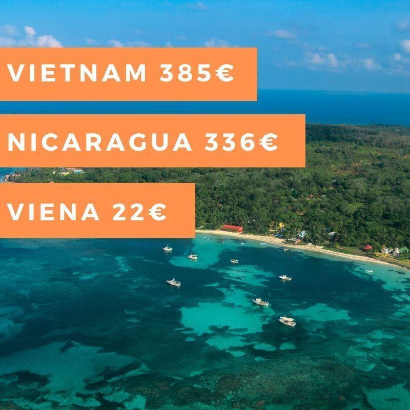 Semana #19:Viena 22€, Nicaragua 336€, Vietnam (verano) 385€ y mucho más…